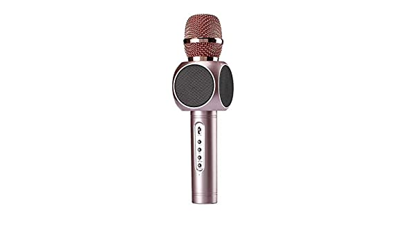 4 in 1 Portable Handheld Home Party Karaoke Speaker Machine Easter Gift olwhouse Wireless Bluetooth Karaoke Microphone with Multi-Color