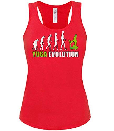 Sport - YOGA EVOLUTION - mujer camiseta Tamaño S to XXL varios colores S-XL Rojo / verde
