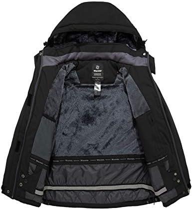 Wantdo Women's Waterproof Ski Jacket Mountain Windproof Rain Jacket Winter Warm Snow Coat