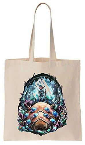 Reutilizables Compras de And Artwork de Bolsos Bag Tote Ohm Nausicaä Algodón Beautiful w1xAqzOB