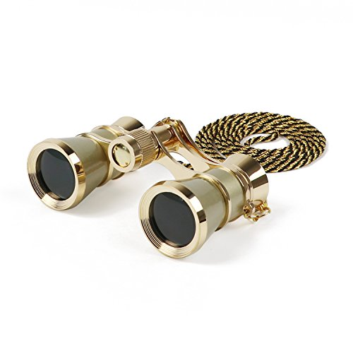 Kingscope 3X25 Vintage Opera Glasses Binoculars for Theater Musical Concert (Golden, with Chain) Review