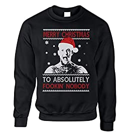 DFE Merry Christmas to Absolutely Fookin Nobody Conor McGregor Xmas Unisex Jumper