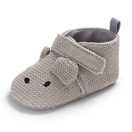 82e936a49dadf Sawimlgy US Infant Baby Non Skid Adjustable Slippers Boys Girls Fleece  Booties with Grippers Cartoon Moccasins Socks Frist Crib Shoes (S:0-6  Months, ...