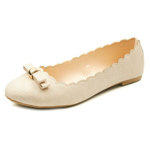 Shoes Flat Z Slip and Snakeskin More Colors Bow See Scalloped On With Sizes Gold and Ballet Edges Womens Blush Vegan Sara 8Xwpxp