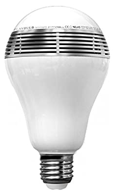 MiPow BTL100-SR-WW PLAYBULB Bluetooth Wireless Smart LED Speaker Light Bulb
