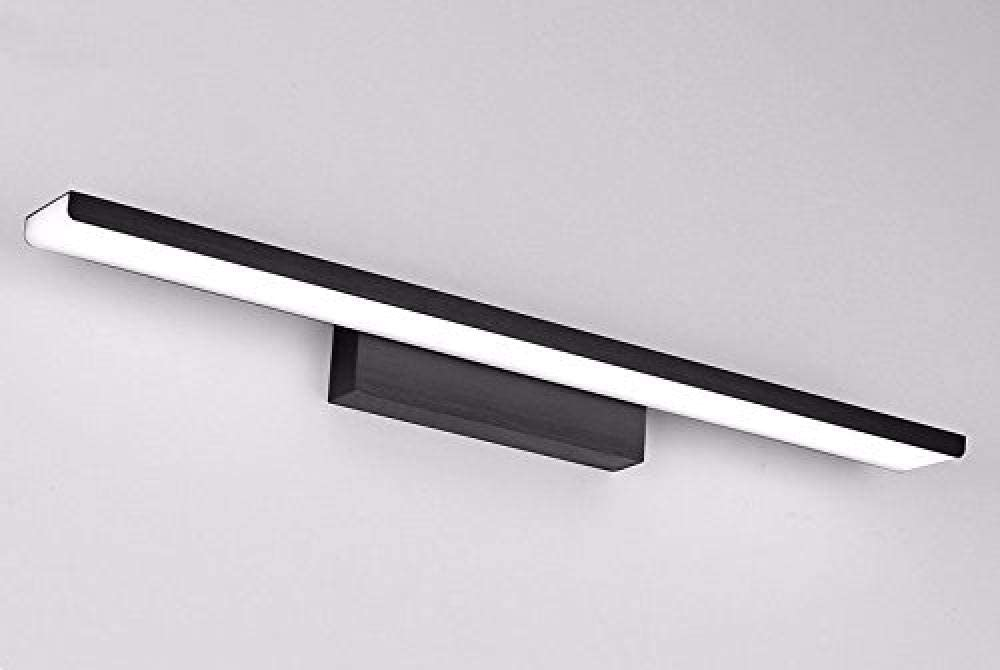 Schwarz Moderne LED-Scheinwerfer Spiegelleuchten Badezimmer Badezimmerspiegelschrank Make-up Kommode Bad Badezimmerspiegelleuchte 61 cm Warmes Licht-81cm//Silber//warmes Licht
