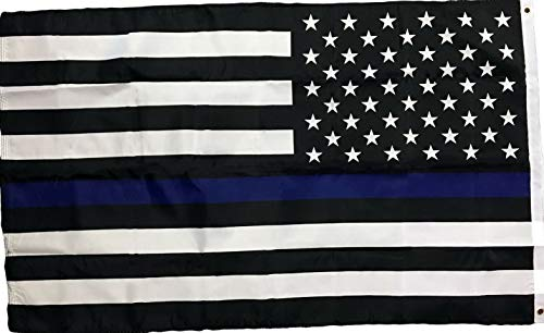 - Hebel 3x5 Thin Blue Line Police Lives Matter on American Flag USA US Outdoor Banner | Model FLG - 751