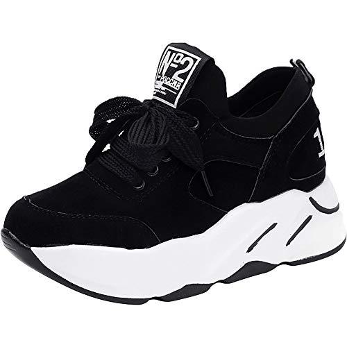 Outdoor Fitness Noir Basket Gym Multisports Noir Chaussures Femme wealsex Plateforme de 02 athlétique Sneakers Suédé Sport Running 7POqEdwAx
