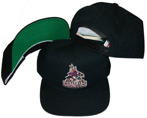 Phoenix Coyotes Vintage Black Plastic Snapback Adjustable Snap Back Hat / Cap - - Vintage Deadstock