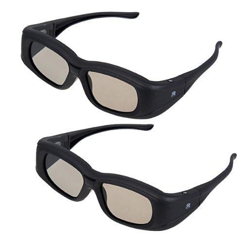 3DTV Glasses - SODIAL(R)New Super Universal 3D Active Shutter Glasses IR&Bluetooth For Panasonic/Sony/Sharp/Samsung/LG/Toshiba 3DTV (2 Packs)