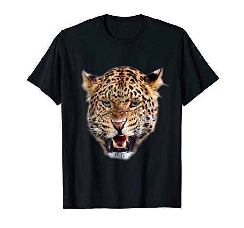 Leopard Head Animal Print Cat T-shirt