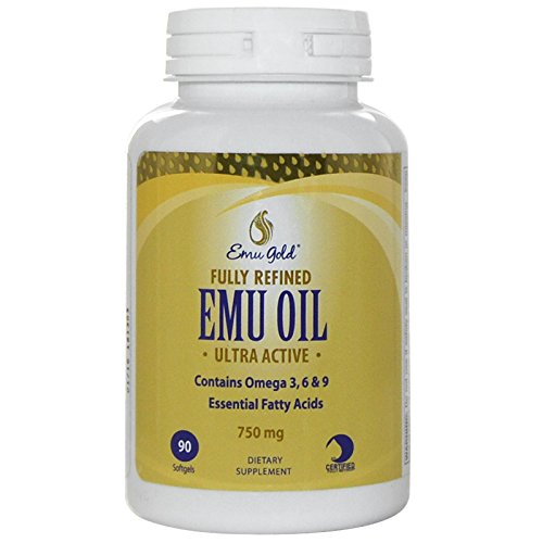 Emu Gold, Fully Refined EMU Oil, Ultra Active, 750 mg, 90 Softgels - 3PC by Emu Gold