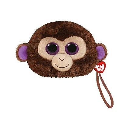 5618bdec0b1 Amazon.com  TY Gear Beanie Boos COCONUT Wristlet Coin Purse with Strap  Toys    Games