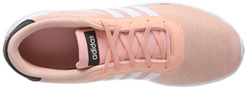 adidas Unisex-Kinder Lite Racer K Gymnastikschuhe, Grau Mehrfarbig (Haze Coral S17/ftwr White/carbon S18)