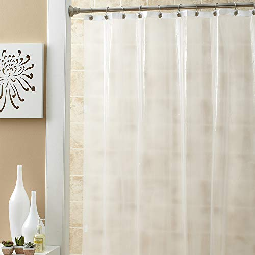Ex-Cell Soft Sensation Shower Curtain Liner, Frosty (Excell Eco Soft Peva Shower Curtain Liner)