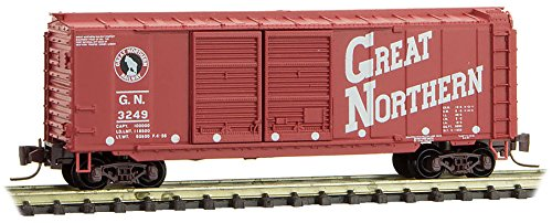 Micro-Trai​ns MTL Z-Scale 40ft Box Car Great Northern/G​N Circus Series 10/#3249