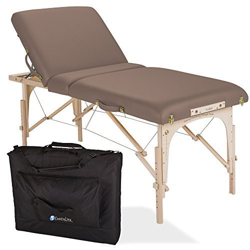 "EARTHLITE Portable Massage Table Package AVALON TILT – Reiki Endplate, Premium Flex-Rest Face Cradle & Strata Cushion, Carry Case (30""x73"")"
