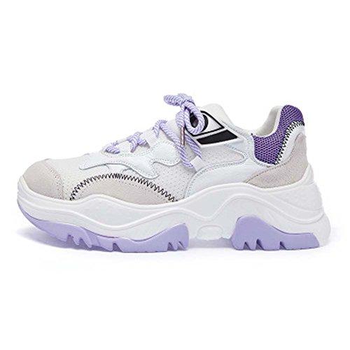Harajuku Sportive Il Scarpe Running Estate Da Wild Increase Libero Ulzzang Flame UK3 Femminile E Ginnastica Colore Tempo Purple Per UK7 Matching Calzature 8qtdx4d