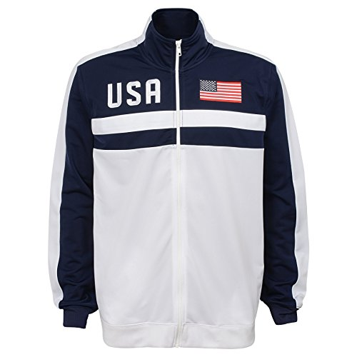 - Outerstuff Adult Men Track Jacket, Navy, Large (14-16)