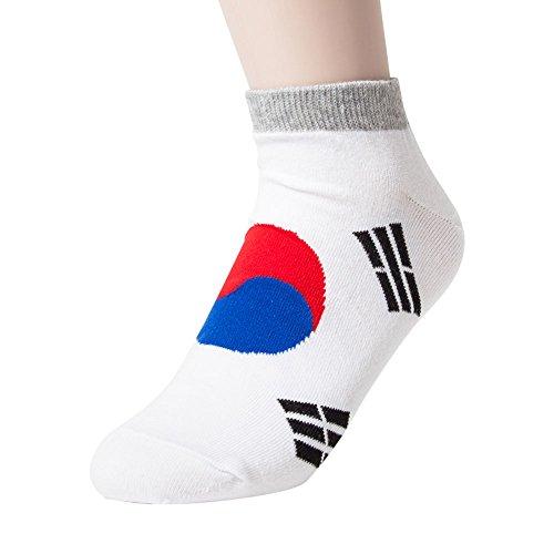 Sockstheway Womens Korean Flag Ankle Casual Socks (1 Pair) ()