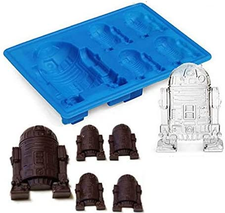 Molde de silicona para cubitos de hielo, diseño de Star Wars R2_d2 ...