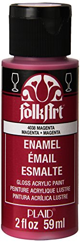 FolkArt Enamel Glass & Ceramic Paint in Assorted Colors (2 oz), 4038, Magenta