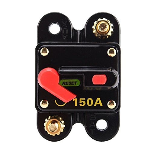 MonkeyJack 150 Amp Waterproof Reset Circuit Breaker Kill Switch for Automobile Electrical System Protection by MonkeyJack