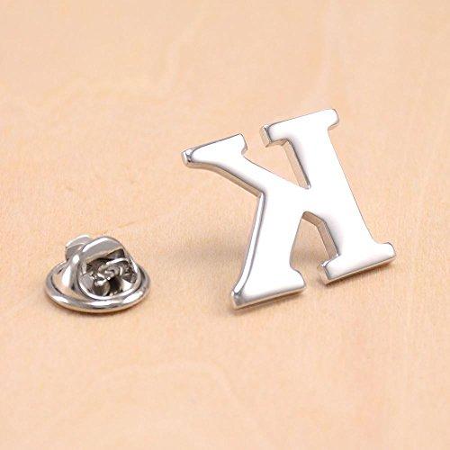 English alphabet fine jewelry brooch pin man suit shirt blouse metal brooch medal retro custom