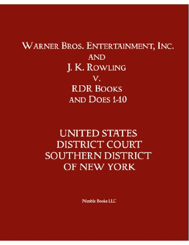 Warner Bros. & J. K. Rowling V. RDR Books The Harry Potter Lexicon Nimble Case Law Book 1