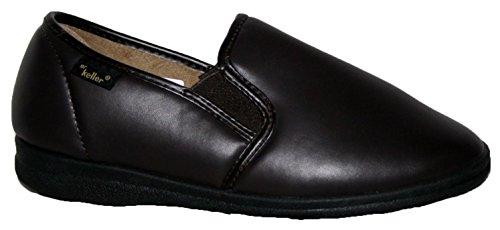 Dr Keller - Zapatillas de estar por casa para hombre negro negro brown slip on
