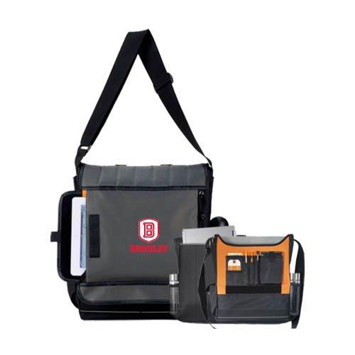 Bradley Impact Vertical Black Computer Messenger Bag 'Official Logo' by CollegeFanGear