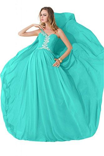 sunvary Corpiño sin tirantes de volantes gasa mujeres Pageant vestidos de fiesta Hunter Verde