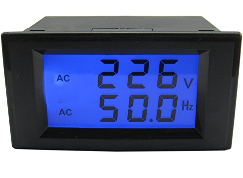 LCD Digital Voltmeter, Yeeco AC 80-300V 45-65.0Hz Dual Display Voltage Frequency Meter Tester Testing Gauge Monitor Panel