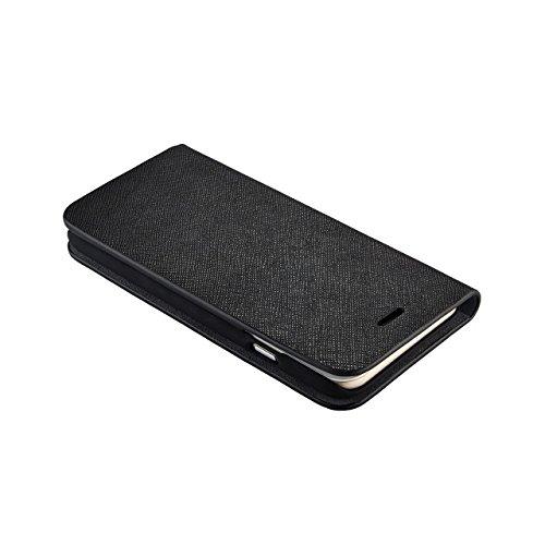 QDOS Saffiano Leder Hülle für Apple iPhone 6 11,93 cm (4,7 Zoll) schwarz
