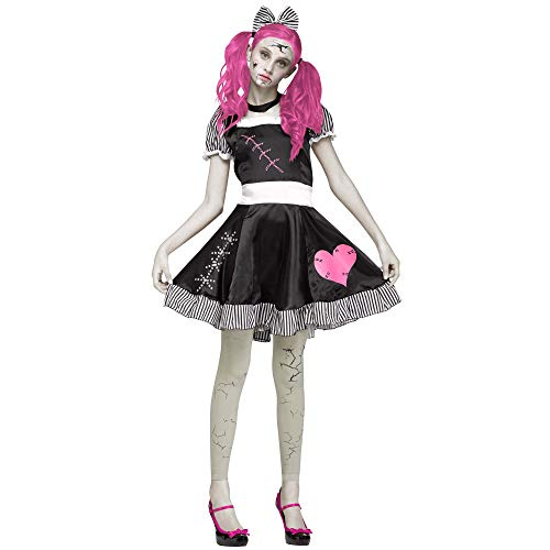 Fun World Girls' Little Broken Doll Teen Cstm, Multi Size for $<!--$22.49-->
