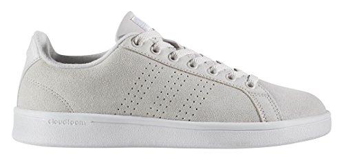adidas Women's Shoe's Cloudfoam Advantage Clean Sneakers, Grey One/White, (8 M US)