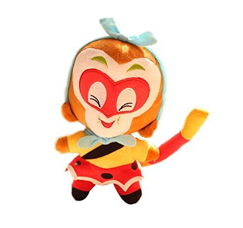 Set of 2 Chinese Monkey Plush Puppy Animal Toy Stuffed Anima