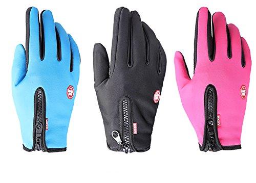 de táctil invierno Zhhyltt de Unisex que deportes se guantes antideslizante lana aire libre guantes calientes ejecutan Pink de bicicleta pantalla en al HxHprZwqR