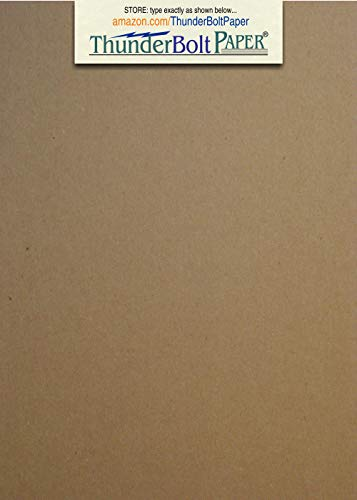 50 Sheets Chipboard 46pt (Point) 5 X 7 Inches Heavy Weight Photo|Card Size .046 Caliper Thick Cardboard Craft and Packing Brown Kraft Paper Board