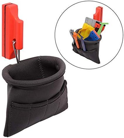 FOSHIO 磁石ポケット収納ツールバッグ ビニールラッピングフィルム貼り施工ツール ウィンドウティントスクイージナイフホルダー ポータブルポーチカーアクセサリー