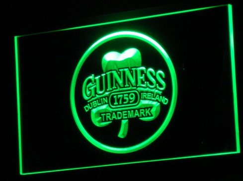 Guinness Sign - A111-g Guinness Beer Dublin Ireland Bar Neon Light Sign