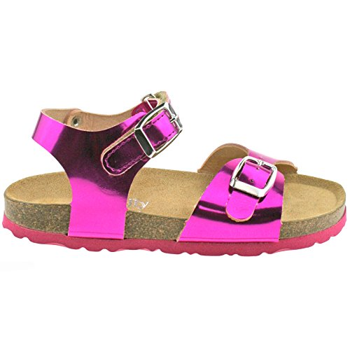 Lelli Kelly LK4584 (CNA8) Fuxia Metallic Lara Adjustable Ankle Sandals-35 (UK 2.5)