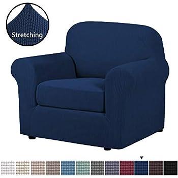 Groovy Amazon Com H Versailtex High Stretch Jacquard 2 Pieces Sofa Alphanode Cool Chair Designs And Ideas Alphanodeonline