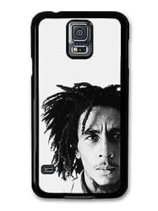 AMAF ? Accessories Bob Marley Black & White Rasta Portrait Reggae case for Samsung Galaxy S5