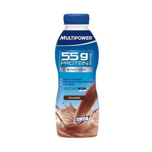 Multipower Protein Shake 55g Chocolate, 12er Pack (12 x 500 ml)