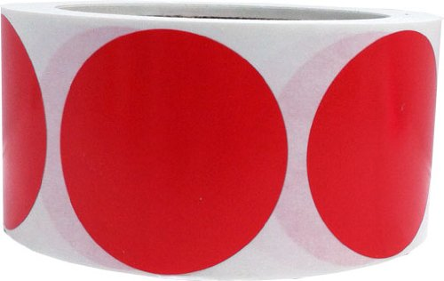 Amazon com red color coding labels round circle dots 2 inch 500 total adhesive stickers office products
