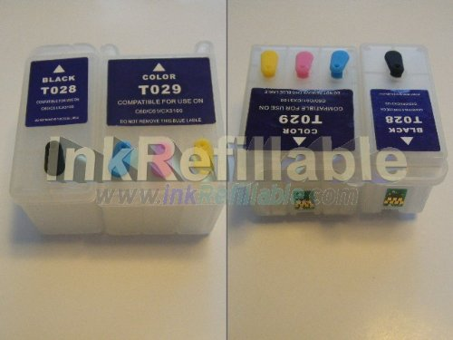 Refillable T028201 T029201 ink cartridges T028 T029 for Epson stylus C50 C60 C61 color photo printers