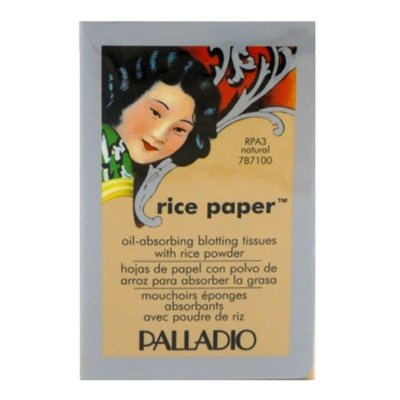 Oil Blotting Rice Papers - Pack of 2 Palladio Rice Paper RPA3 Natural