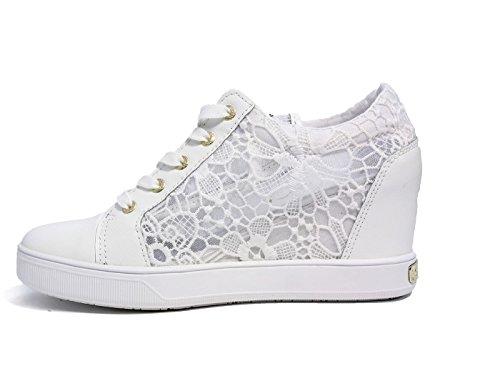 GUESS Finna, Zapatillas de Tenis para Mujer BLANCO