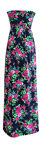 Lucky Love Maxi Dresses for Women, Plus Size Summer Beach Dress, Strapless, Vintage Floral by Lucky Love (Image #4)